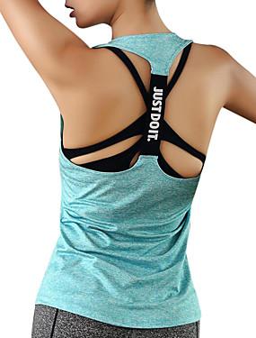povoljno Sport és outdoor-Žene Open Back Futó atléta Sportski Elastan Majice Yoga Fitness Trening u teretani Odjeća za rekreaciju Quick dry Prozračnosti Izzadás-elvezető Rastezljivo