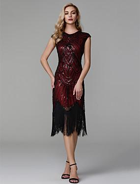 Ίσια Γραμμή Με Κόσμημα Ασύμμετρο Πολυεστέρας Φανταχτερό   Μικρό Μαύρο Φόρεμα  Κοκτέιλ Πάρτι   Χοροεσπερίδα Φόρεμα με Πούλιες με TS Couture® 11fad086b8d