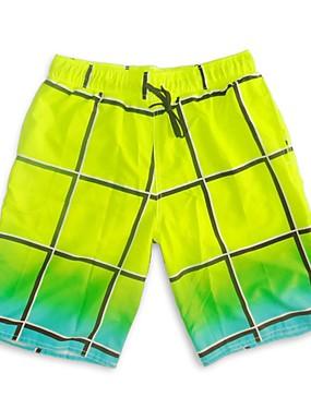 povoljno Sport és outdoor-SBART Muškarci Kupaće hlačice Swim Trunks Elastan Surferske hlače UV zaštitu od sunca Bez rukávů Vezica - Surfanje Odbojka na pijesku Vježbanje na otvorenom Plaid / Check Ljeto / Mikroelastično
