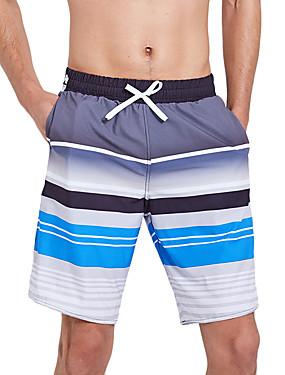 abordables Deportes y Ocio-SBART Hombre Pantalones de Natación Boxers de Natación Licra Pantalones de Surf Impermeable Secado rápido Correa - Surfing Playa Deportes acuáticos Rayas / Elástico
