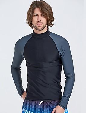 povoljno Sport és outdoor-Muškarci Spandex Anatomski dizajn Dugih rukava Surfanje Daskanje Wakeskating  Jednobojni Ljeto / Mikroelastično