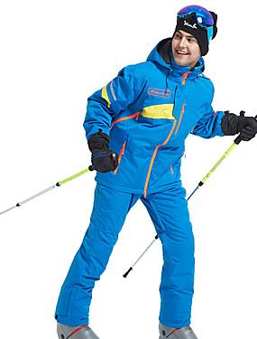 billige Sport og friluftsliv-Wild Snow Herre Skijakke og bukser Vanntett Vindtett Varm Ski & Snowboard Vintersport POLY Klessett Skiklær