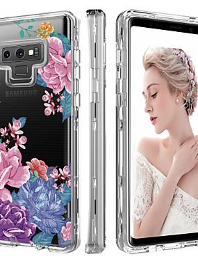 povoljno Bentoben-BENTOBEN Θήκη Za Samsung Galaxy Note 9 Otporno na trešnju / Prozirno / Uzorak Korice Biljke / Cvijet Tvrdo TPU / PC za Note 9