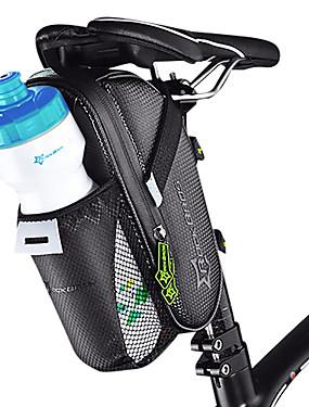 povoljno Sport és outdoor-ROCKBROS Bike Saddle Bag Podesan za nošenje Jednostavna primjena Torba za bicikl Carbon Fiber Torba za bicikl Torbe za biciklizam Biciklizam Biciklizam / Bicikl / Vodootporni patent