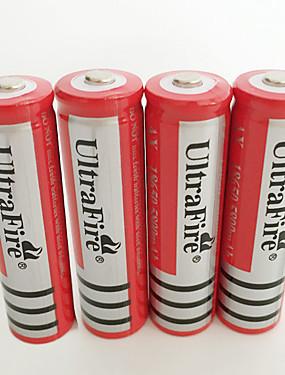 povoljno Sport és outdoor-UltraFire BRC Li-ion 18650 baterija 4200 mAh 4kom Može se puniti za Baterijska svjetiljka Bike Light Prednja svjetla Lov Penjanje Kampiranje / planinarenje / Speleologija