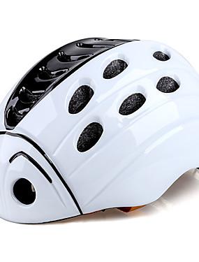 저렴한 스포츠 & 아웃도어-Kingbike 아동용 자전거 헬멧 21 통풍구 CE 충격 방지 일체식-몰디드 벨루어 EPS PC 스포츠 도로 자전거 산악 자전거 야외운동 - 화이트 블루 남아 여아