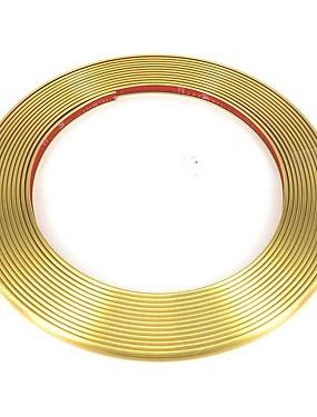 povoljno Weekly Deals4-4 metra kromiranje ukrasne letvice traka gume rešetka svjetla za ukrašavanje crte naljepnica kotača glavčina zaštitnik ruba