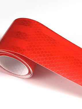 povoljno Weekly Deals4-crvena fluorescentna reflektirajuća naljepnica 5cm x 5meter auto kamion motocikl uočljivost traka automobilske svjetleće trake