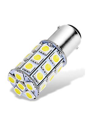 abordables Luces de marcha atrás-1 unids ba15d 1142 1076 1176 led bombillas 12-24v 5050 27 smd blanco para marcha atrás luces de freno luces de freno luces traseras