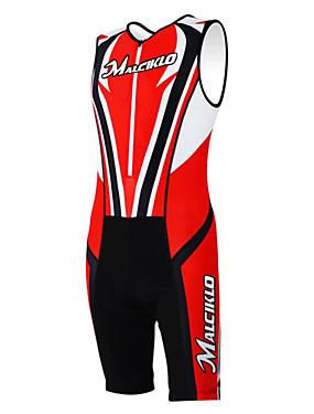 povoljno Sport és outdoor-Kooplus Muškarci Žene Bez rukávů Trodjelno odijelo Red Dungi Bicikl radni kombinezon Sportska odijela Prozračnost Quick dry Sportski Poliester Odjeća