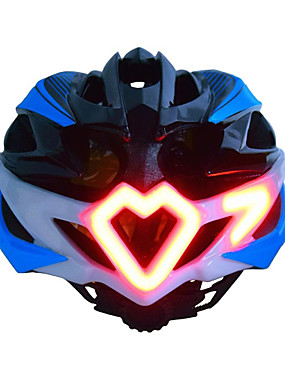저렴한 스포츠 & 아웃도어-어른' 자전거 헬멧 Turn Signal Light 24 통풍구 충격 방지 일체식-몰디드 벨루어 EPS 스포츠 도로 자전거 산악 자전거 모토바이크 - 블랙 그린 블루 남성용 여성용 남여 공용