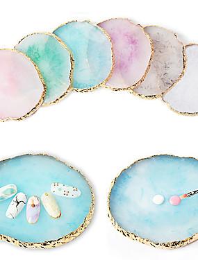 voordelige Ander Gereedschap-1 stks ronde valse nail tips display board hars steen kleur schilderen palet houder praktijk nail art gereedschap manicure accessoires