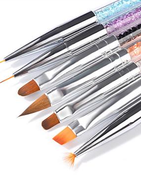 voordelige Nagelborstels-7pcs Geitenhaar / PVC / Kunst Edelstenen Nail Painting Tools Voor Vingernagel Universeel Sieraden Series Nagel kunst Manicure pedicure Stijlvol / Luxe Dagelijks