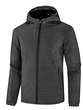 cheap Sports & Outdoors-Men's Hiking Jacket Outdoor Autumn / Fall Winter Waterproof Windproof Soft Comfortable Top Camping / Hiking / Caving Traveling Black / Grey / Dark Blue