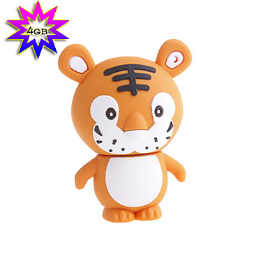 4gb tiger stil usb flash drive (orange)