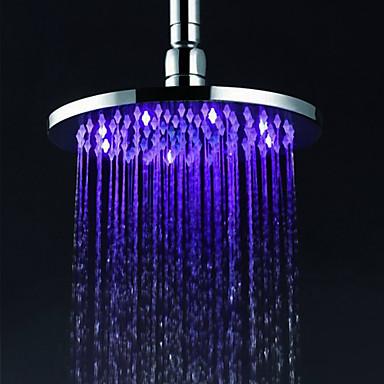 Contemporan Duș Ploaie Crom Caracteristică - Ploaie LED, Cap de dus