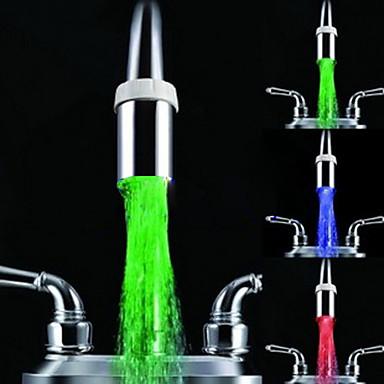 Αξεσουάρ βρύσης - Ανώτερη ποιότητα - Σύγχρονο Βαθμός Α ABS Λάμπα LED - Φινίρισμα - Χρώμιο