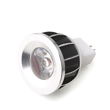 1w - 12v LED-lamp in blauw licht aluminium afwerking