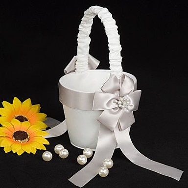 Flower Basket Drvo / Saten 3 1/2