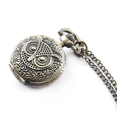 Antique owl quartz small pocket watch necklace chain Cool Watches Unique Watches