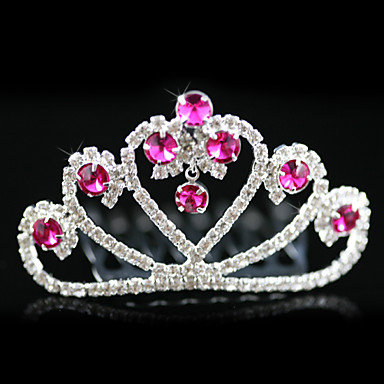 Alloy With Rhinestones Wedding Flower Girl Tiara/ Headpiece