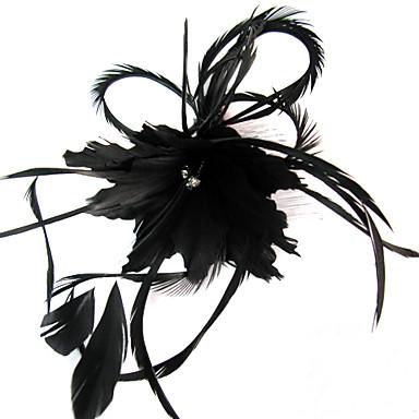 Kristal / Tüy / Kumaş  -  Tiaras / Fascinators / Çiçekler 1 Düğün / Özel Anlar / Parti / Gece Başlık