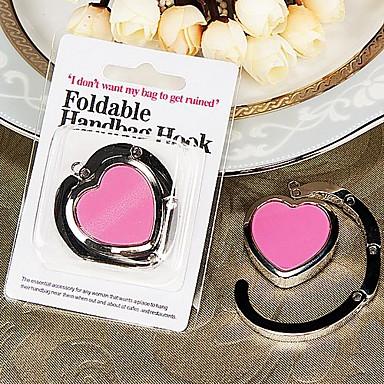 corazón de color rosa con forma de bolso a favor de valet