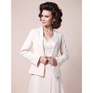 Sateng Bryllup / Fest & Aften Sjal til kvinner Med Perlearbeid Frakker / jakker
