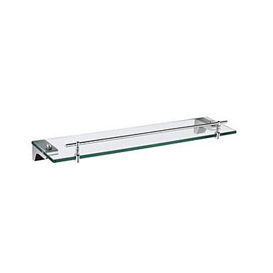 chroom glazen plank met rail in de juiste hoek beugel