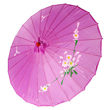 Silkki Tuulettimet ja aurinkovarjot Kukin / Set Parasols Puutarha-teema Aasialainen teema Syreeni19