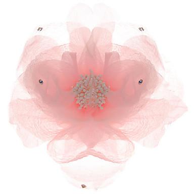 mousseline à la fleur strass mariée mariage / casque
