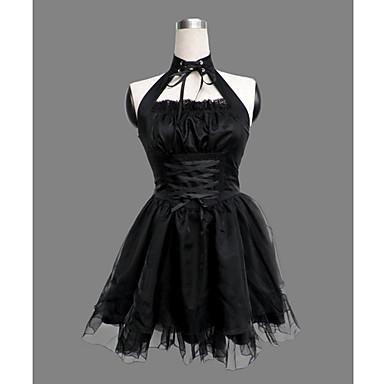 Πριγκίπισσα Γοτθική Λολίτα Λολίτα Πανκ Πανκ Γυναικεία Φορέματα Cosplay Μαύρο Αμάνικο Κοντό Μήκος Κοστούμια