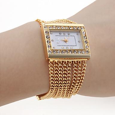 Pentru femei Ceas Brățară Japoneză Aliaj Bandă Sclipici / Modă / Elegant Auriu