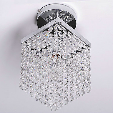 QINGMING® Modern / Contemporary Flush Mount Ambient Light - Crystal Mini Style, 110-120V 220-240V Bulb Not Included