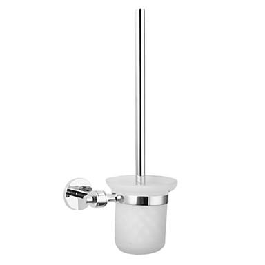 wc-borstel met mat glazen kom houder