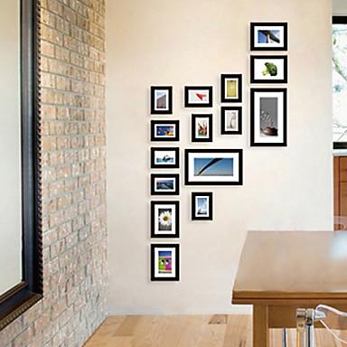 galería contemporánea collage negro marcos de pared, juego de 15