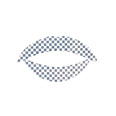 5 Pcs Checkered Temporaty Lip Tattoo Sticker