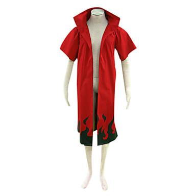 Inspiré par Naruto Naruto Uzumaki Manga Costumes de Cosplay Costumes Cosplay Imprimé Manches Courtes Manteau Pour Homme