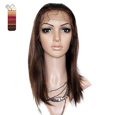 Blondeparykker af menneskehår Syntetiske parykker Frisure i lag Kort Medium Lang Syntetisk hår Daglig