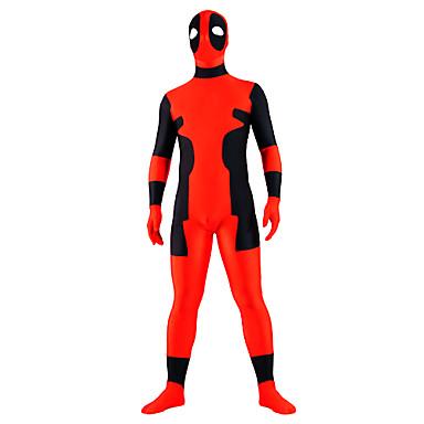 Στολές Zentai Ολόσωμη εφαρμοστή στολή ήρωα Ninja Zentai Στολές Ηρώων Patchwork Φορμάκι / Ολόσωμη φόρμα Zentai Spandex Ανδρικά Γυναικεία