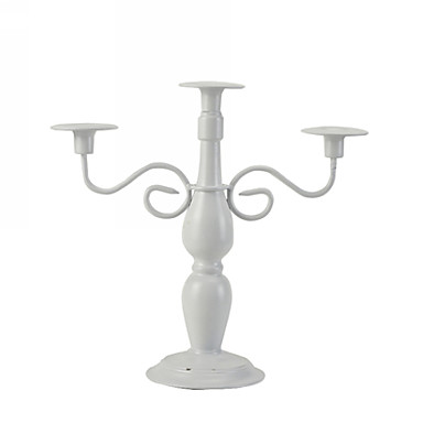 3 Head Metal Taper Candle Holder