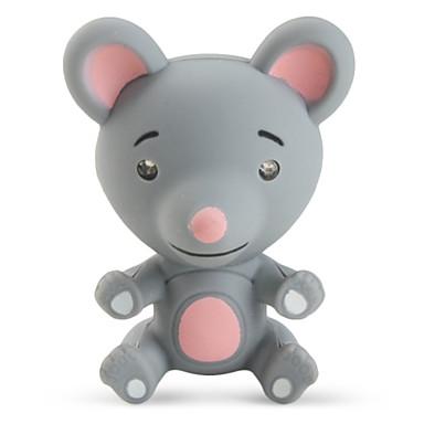 Klíčenka Myš Animák LED osvětlení / Ses Béžová / Šedá ABS