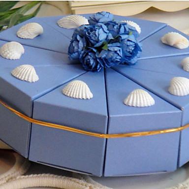 Pyramida Lepenkový papír Favor Holder S Květiny Stuhy Krabice na výslužky