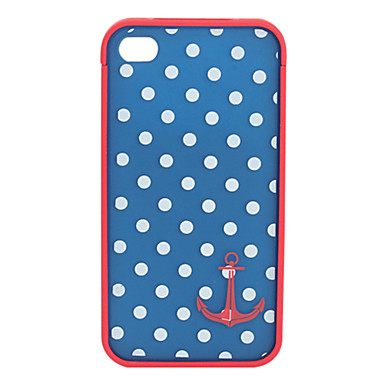 Beskyttende PolyBilbonate Bumper og Cover til iPhone 4 og iPhone 4S (Anker og Prikker)