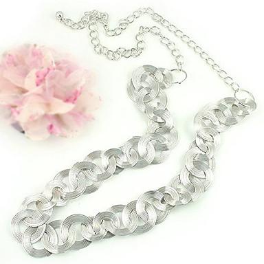 knyttet sirkler sølv legering halskjede