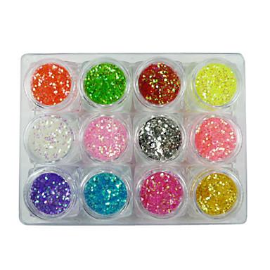 12 pcs Glitter & Poudre / Seturi de decorare / Paiete Clasic Încântător Zilnic