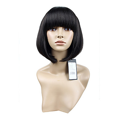 Capless Cute Short Hair Charm Synthetic Wigs Full Bang 4 Colors To Choose