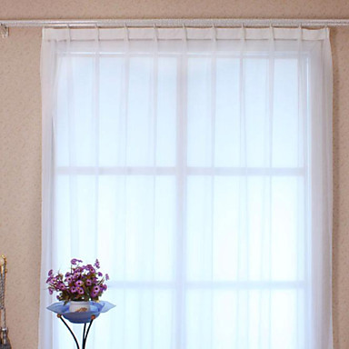 zwei Panele Window Treatment Modern, Druck Solide Polyester Stoff Gardinen Shades Haus Dekoration