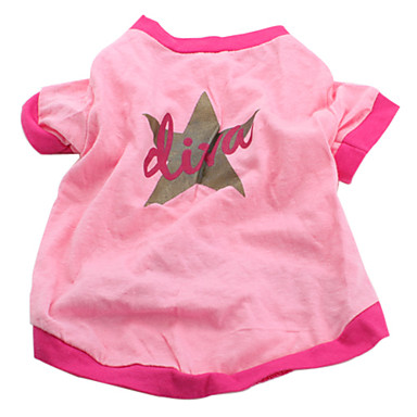 Dog Shirt / T-Shirt Dog Clothes Stars Pink Cotton Costume For Pets Men's Women's Casual/Daily