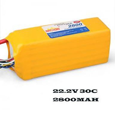 mysterium 2800mAh 30c 22.2v 6s1p lipoly batteri (my28306)